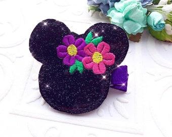 The Spring Glitter Minnie Headband or Hair Clip