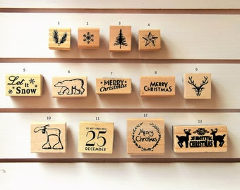 Rubber Stamps for Ink Stamping by East of India for Christmas -  Gift Tags, Card Making, Craft