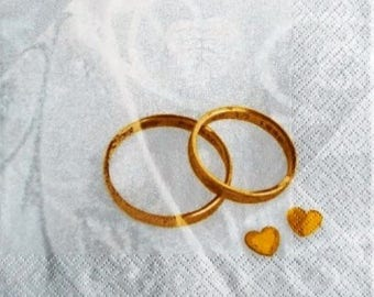 TOWEL in paper Alliances married and hearts #DI001