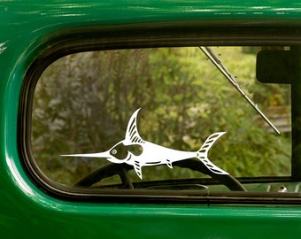 Swordfish Decal, Swordfishing Sticker, Swardfish Sticker, Sport Fishing Decal, Car Decal, Laptop Sticker, Vinyl Decal