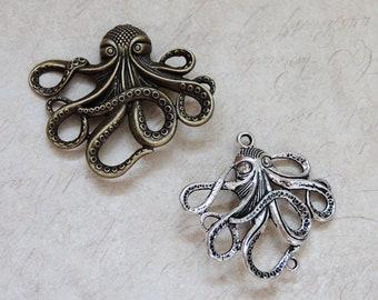 Kraken/Octopus Steampunk brooch/shawl pins Pirate
