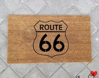 """Doormat """"Route 66"""""""
