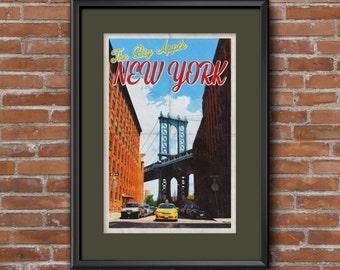 Vintage Style Travel Poster - New York