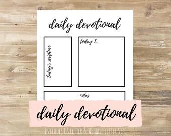 Daily Devotional: Bullet Journal Printable