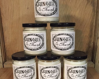 """9 oz. """"Junque in the Trunk"""" candle"""