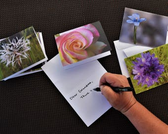 4 Pack Floral Note Cards
