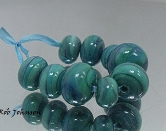 Antilly Falls, Artisan Lampwork Glass Beads, SRA, UK
