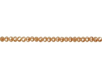 Crystal Tan Luster Rondelle Bead  3x4mm - 1 Strand Wholesale price (9143)/1