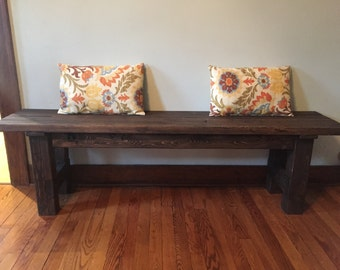 Wooden Farmhouse Bench, Wooden Bench, Entryway Bench, Rustic Bench