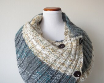 Colorblock Mohair Scarf Shawl