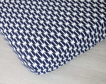 Changing Pad Cover | Navy and White Stripes