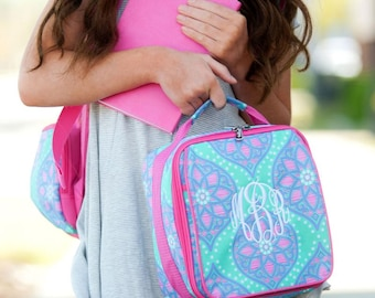 Monogram Lunch Bag | Marlee Lunch Bag | Monogram Snack Pouch | Personalized Lunch Box | Kid's Lunch Box | Adult Lunch Bag