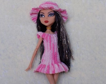 Clothes for Monsters High  and Ever After High, crochet dress and hat MH doll