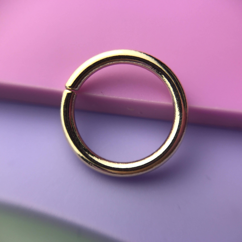 Seam Ring Solid 9ct Yellow Gold Piercing Septum Daith