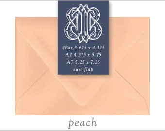 Peach | 10 Blank Euro Envelopes | A7 • A2 • RSVP