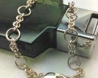 Gorgeous solid silver men bracelet  .