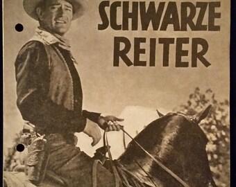 Original 1947 Angel And The Badman Austrian Movie Poster Program, John Wayne, Cowboy, Western