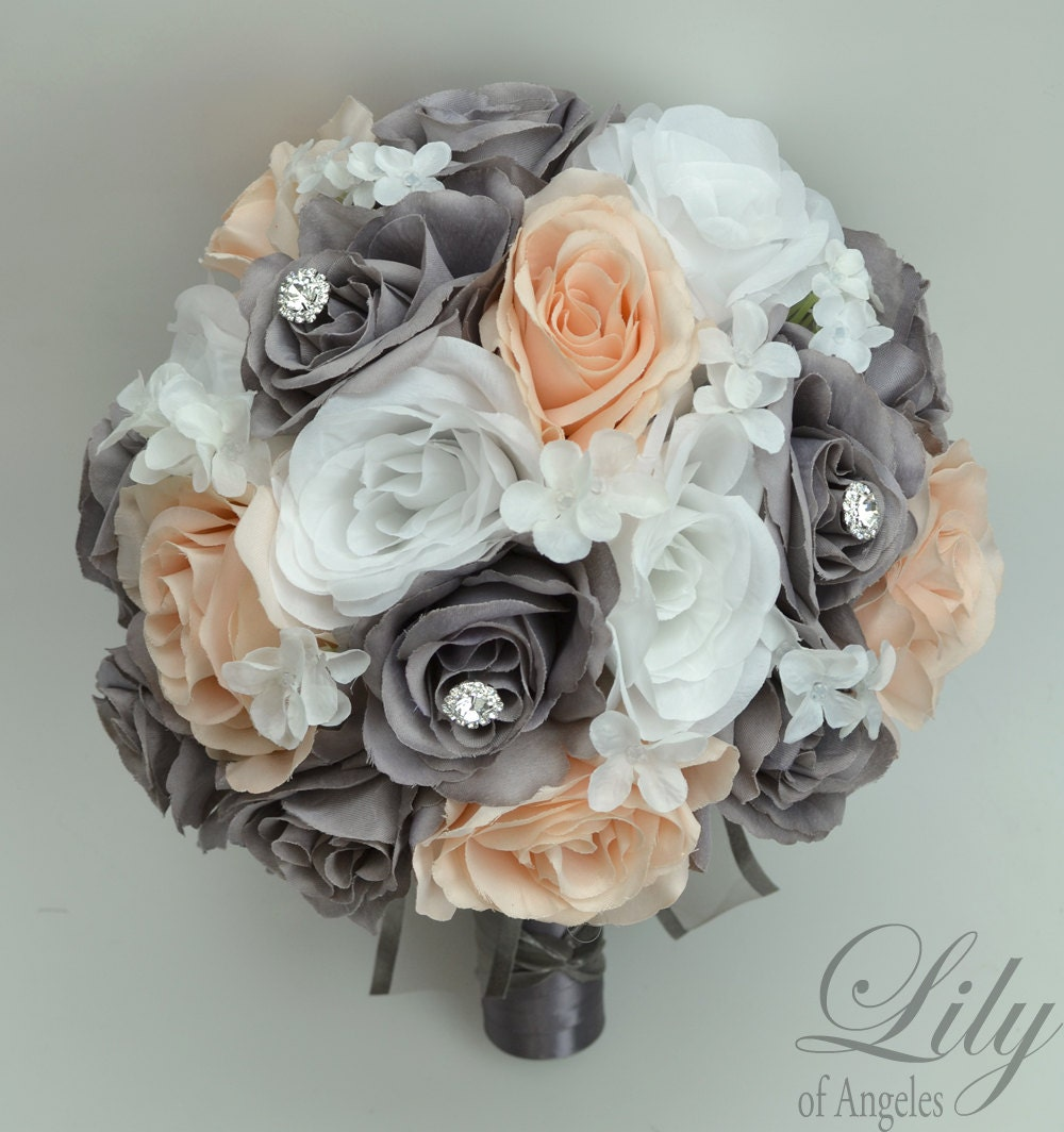 round wedding bouquet wedding bouquet wedding flowers silk flower bouquet 7144