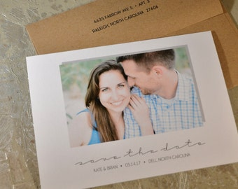 Save The Date - Photo Cards - Custom Photo Card - Flat Cards - Envelopes - Marriage Ceremony Save The Date - Personalized - Customized