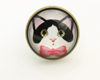 Cat Ring, Cat jewelry (2020B)