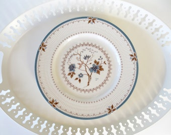4 Royal Doulton Old Colony TC1005 Dinner Plates Large Plates 10 1/2 inches English China Made England Set Four Blue White Dishes Old Pattern