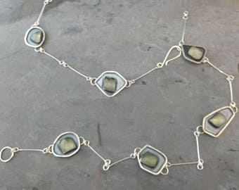 Peridot Sterling Silver Lariat Necklace