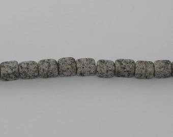 10 pearls sesame Jasper grey sample - Ref: PJ 2016