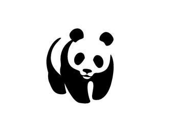 "Panda Bear Car Decal Vinyl Sticker 5"" H78 Zoo Animals Window"