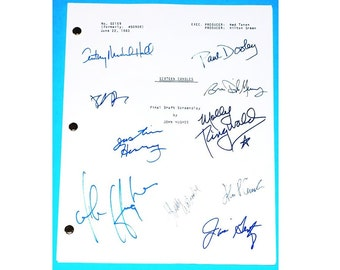 Sixteen Candles Signed Script  John Hughes, Molly Ringwald, Paul Dooley,Anthony Michael Hall and more