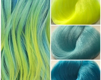 Nylon Doll Hair, Custom Color Blend, Water Pixie Blend Tress, Rerooting
