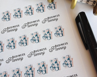 Business Planner Stickers - Happy Planner Stickers - Erin Condren Stickers - Stickers for Planners - Business Planning Stickers