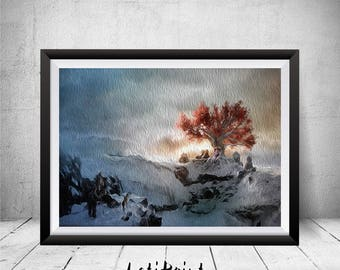 Game Of Thrones Print Painting Poster Weirwood