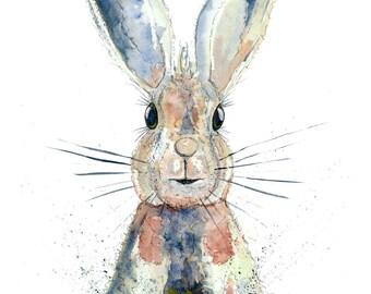 Original Watercolour 'Humphrey Hare'