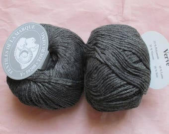 5 balls of viscose, wool, silk grey Verve 12