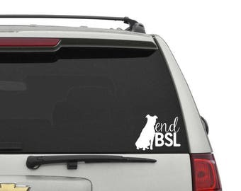 End BSL Car Decal