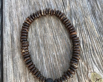 Coconut Shell Diffuser Bracelet