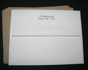 Printing Return Address on Envelopes for 20 envelopes