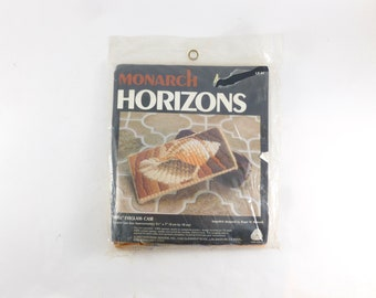 Eyeglass Case Needlepoint Kit Shell Design by Monarch Horizons Unfinished