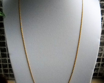 Early 80's Chain Necklace. A Soldered Gold Plated Brass S Curb Chain - round  69cm/ 27in; 104cm/55in and 139cm/55in.