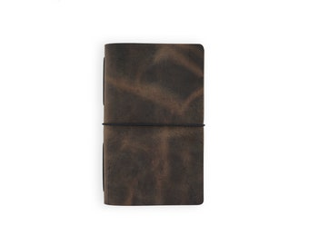 Moleskine Cahier Leather Journal - Rustic Brown