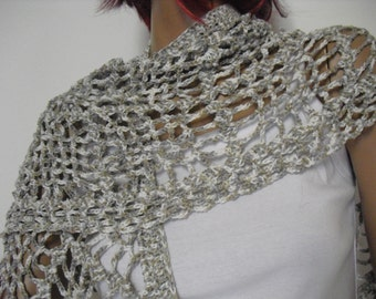 Grey & white Shawl