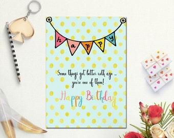 printable birthday cards for sister