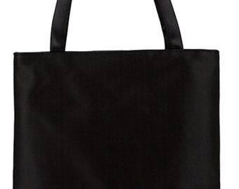 12 Black canvas tote bags