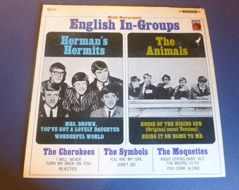 On Sale Vintage English In-Groups Herman's Hermits The Animals Vinyl Record MS-577 Metro Records