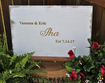 Wedding Guest Book Alternative - Wedding Guestbook - Rustic Wedding Guest Book Alternative - Wedding Guestbook Alternative Wood - Carved