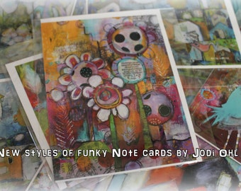 Special pricing!  Save 10 dollars.  Grab bag!  FLAT note cards by Jodi ohl