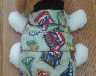 Old record player dog coat