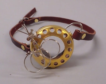 Steampunk Monocle with magnifiers
