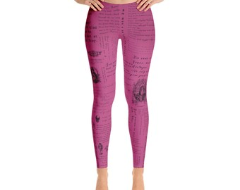 Romeo and Juliet - Shakespeare -  Pink Leggings