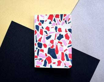 LIMITED EDITION A6 Hand Painted Notebook - Ivory Terrazzo Print